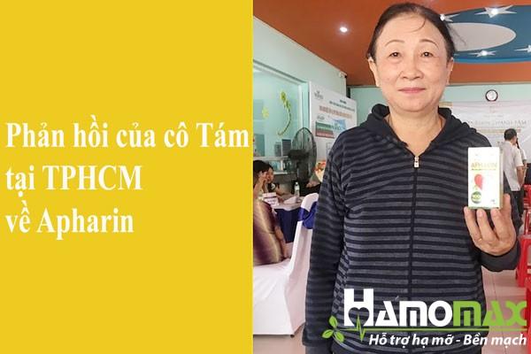 Phản hồi của cô Tám tại TPHCM về sản phẩm Apharin
