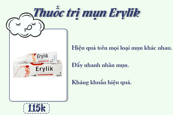 Thuốc trị mụn Erylik.