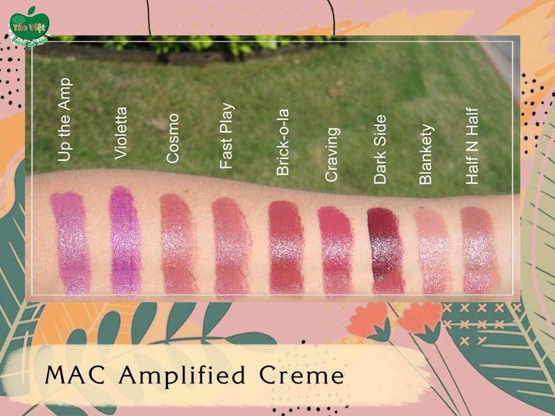 Bảng màu dòng Amplified Creme