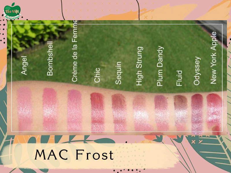 Bảng màu dòng MAC Frost