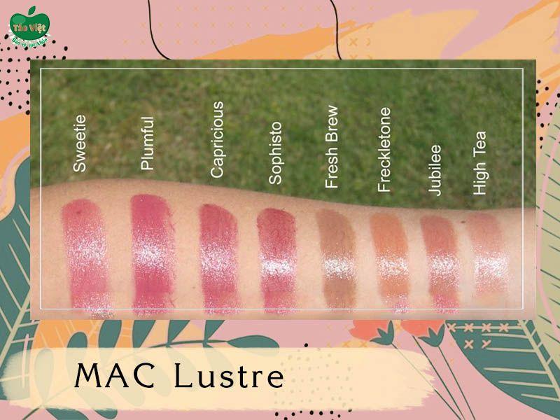 Bảng màu dòng MAC Lustre