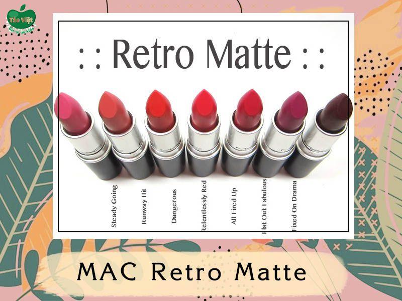 Bảng màu dòng MAC Retro Matte