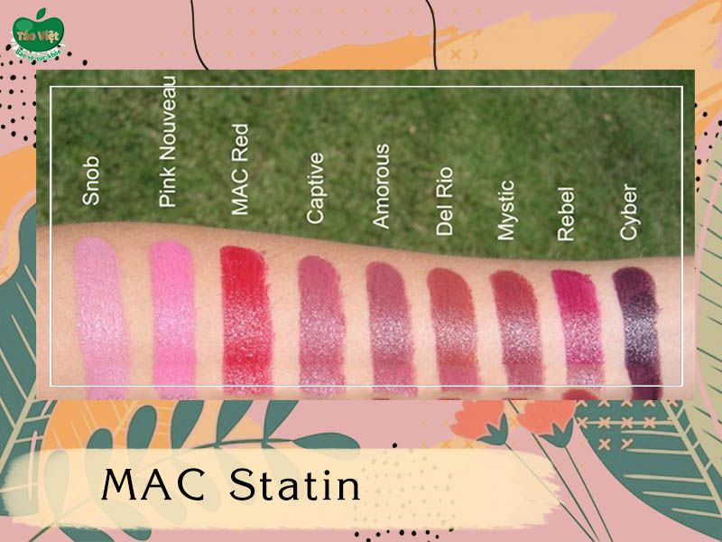 Bảng màu dòng MAC Statin