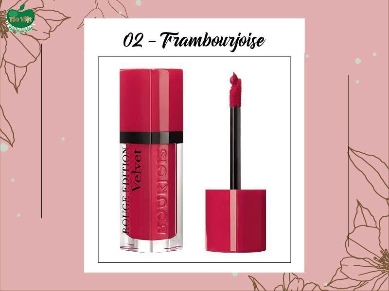 Son Velvet màu 02 (đỏ hồng)