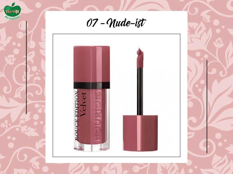 Son Velvet màu 07 (hồng nude)