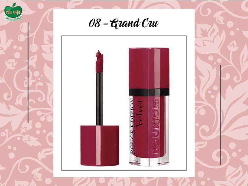 Son Velvet màu số 08 (đỏ cherry)