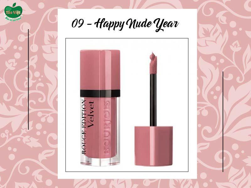 Son Velvet màu số 09 (hồng nude sáng)