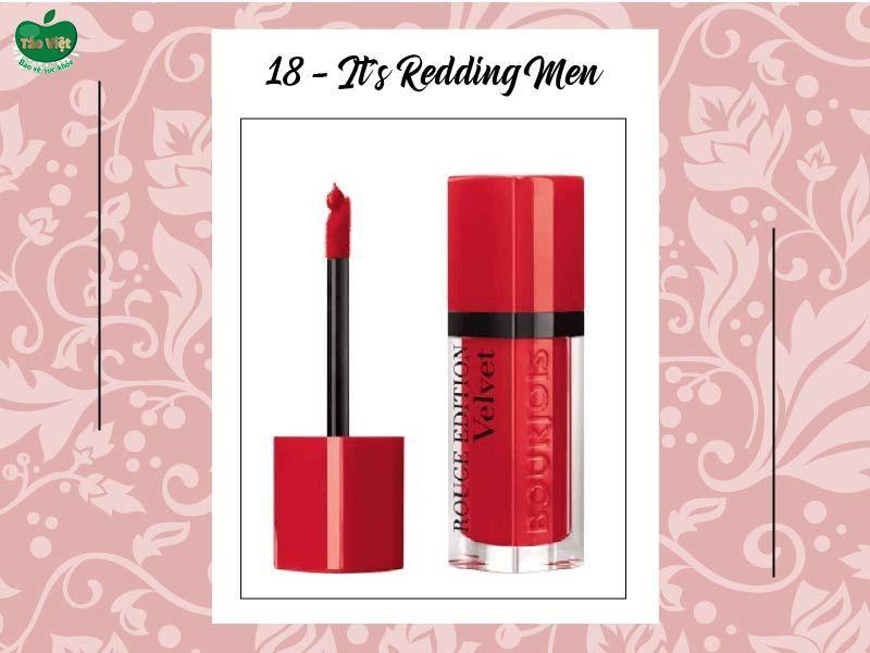 Son Velvet màu 18 (đỏ cam thiên đỏ)