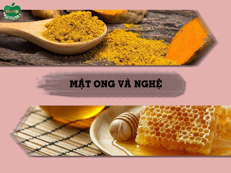Cách trị sẹo thâm bằng mật ong và nghệ