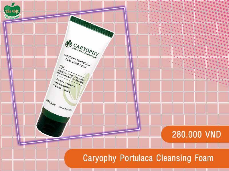 Sữa rửa mặt Caryophy Portulaca Cleansing Foam