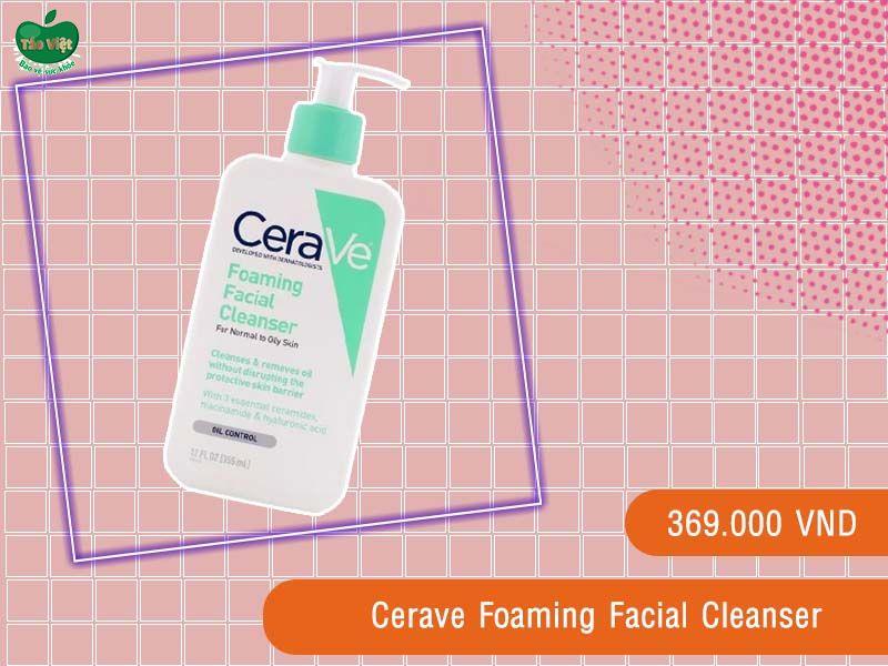 Sữa rửa mặt da dầu Cerave Foaming Facial Cleanser