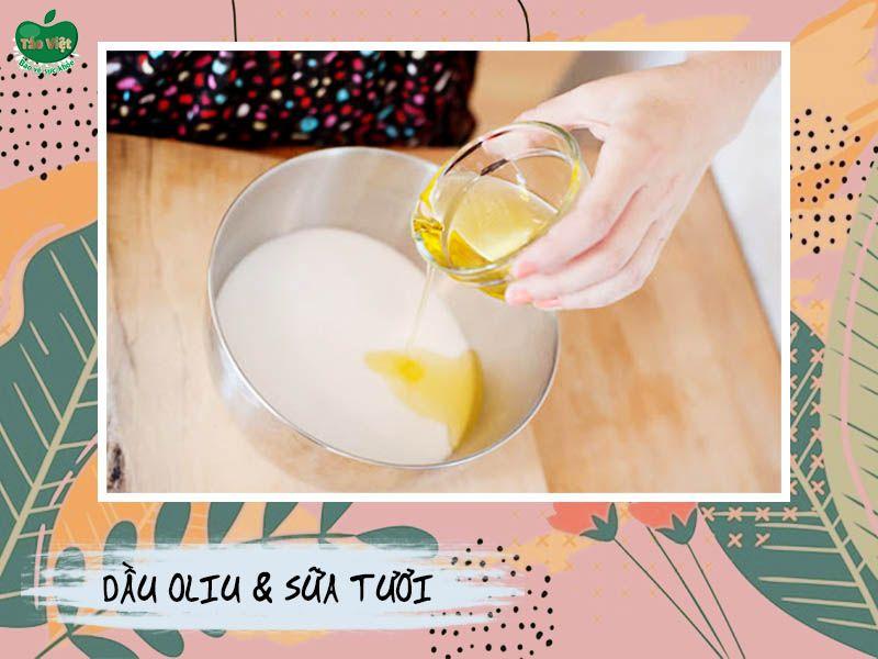Trị thâm bằng dầu oliu và chanh
