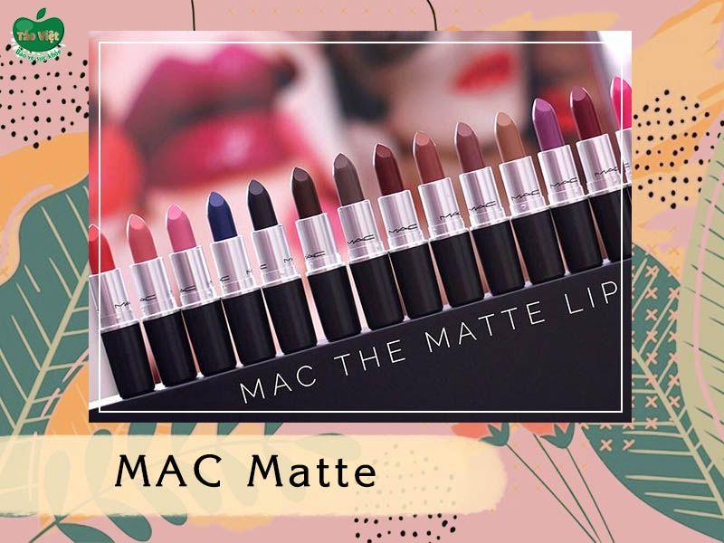 Bảng màu dòng MAC Matte