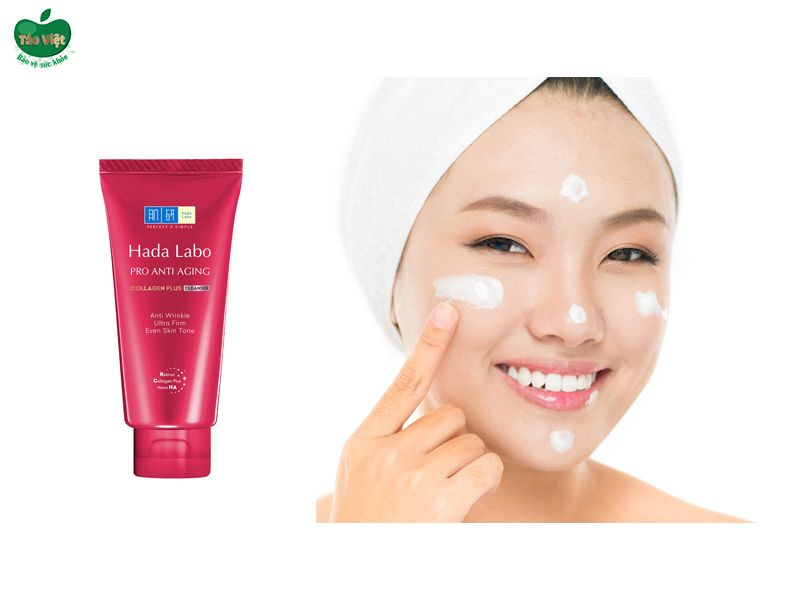 Hada Labo Pro Anti Aging Collagen Plus Cleanser màu đỏ