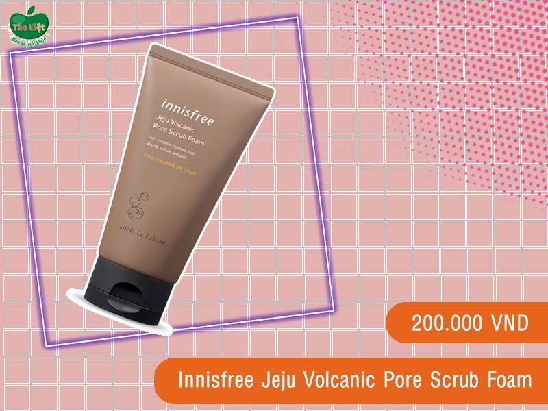 Sữa Rửa Mặt Innisfree Jeju Volcanic Pore Scrub Foam