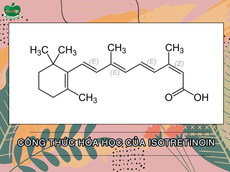 Cấu trúc hóa học của Isotretinoin.