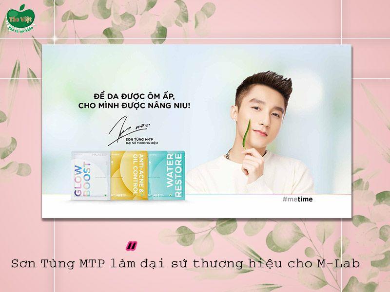 Ca sĩ Sơn Tùng MTP là đại sứ thương hiệu của M-Lab Derma Bamboo Mask