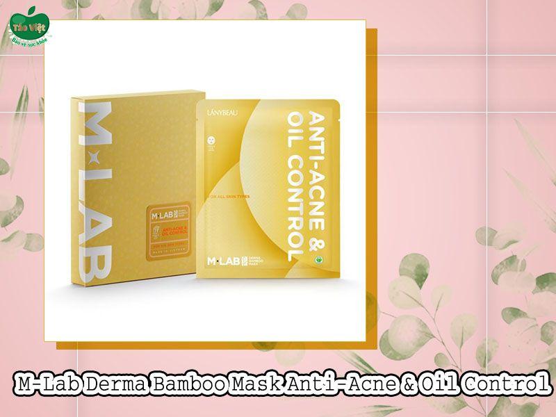 Mặt Nạ M-Lab Derma Bamboo Mask Anti-Acne & Oil control (Màu vàng)