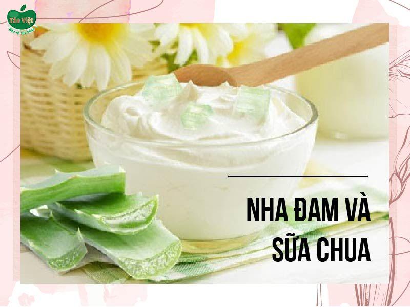 Sử dụng nha đam và sữa chua trị thâm môi cho nam giới