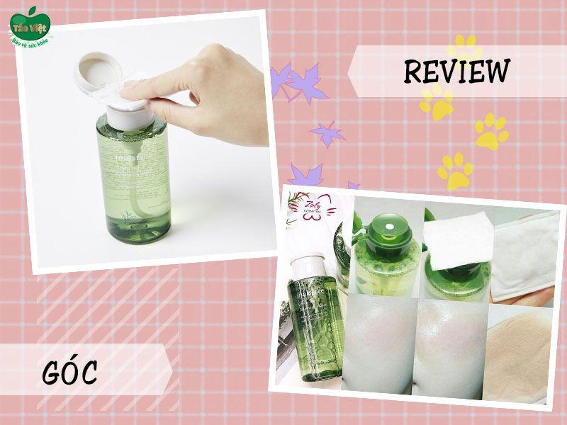 Một số review về nước tẩy trang trà xanh Innisfree