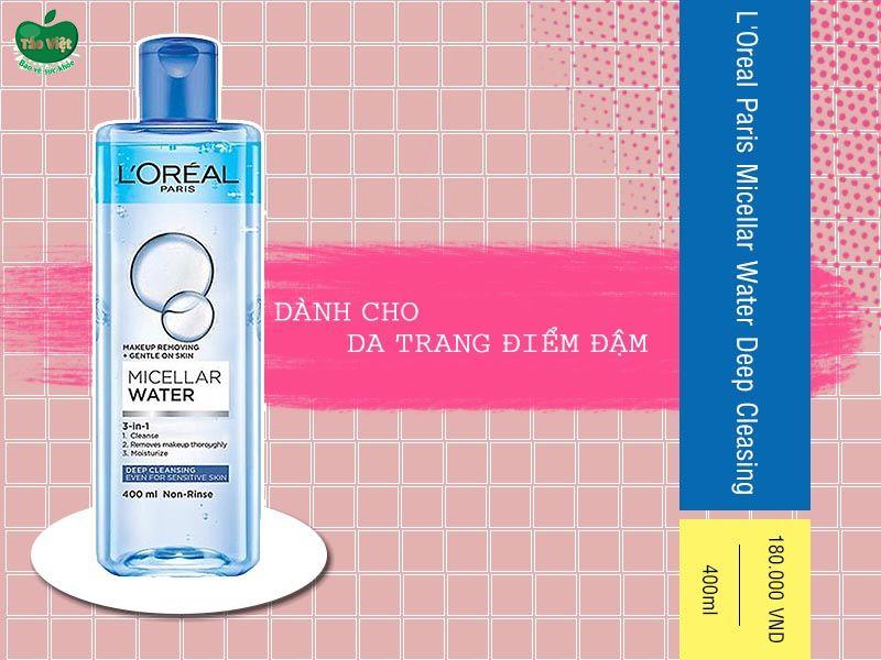 Nước tẩy trang L'Oreal Paris Micellar Water Deep Cleasing