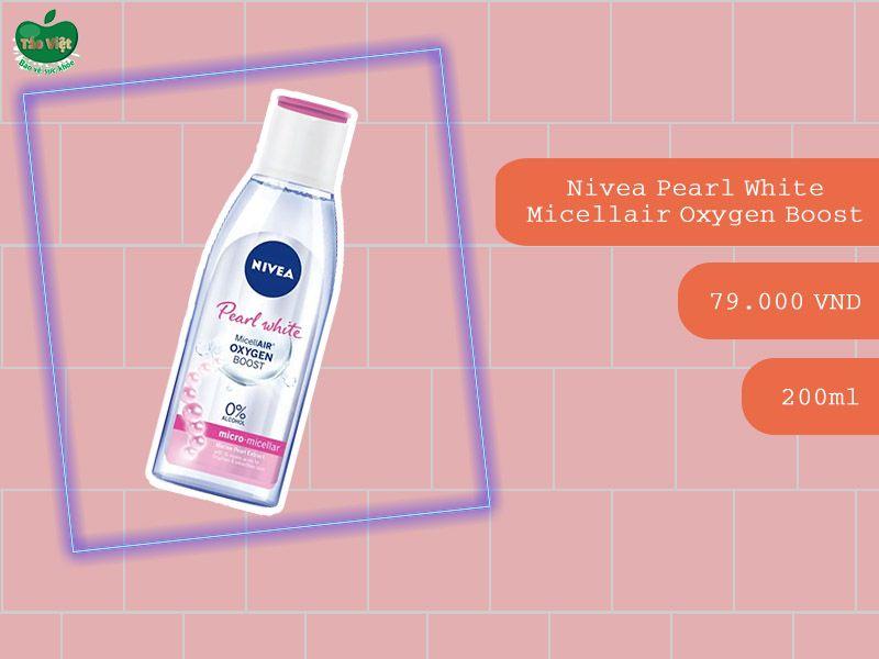 Nước tẩy trang Nivea Pearl White Micellair Oxygen Boost