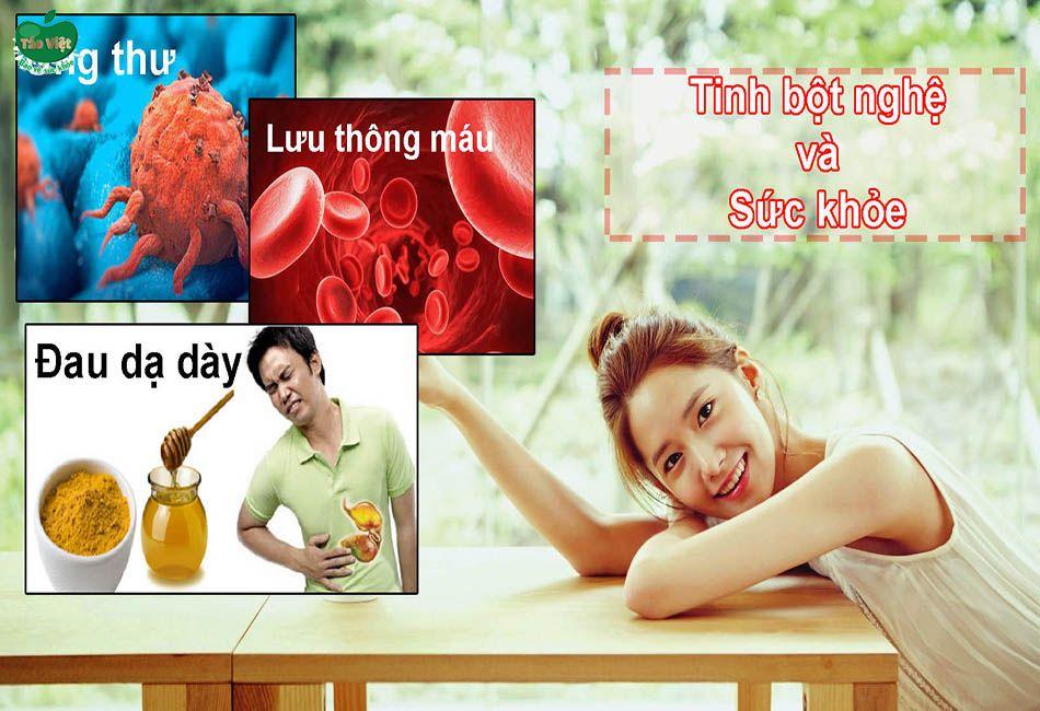 Các tác dụng của tinh bột nghệ đối với sức khỏe