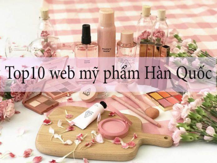 Top 10 web order mỹ phẩm Hàn Quốc