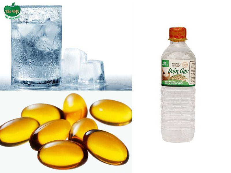 vitamin E, nước đá hoặc giấm trị sẹo thâm do muỗi đốt