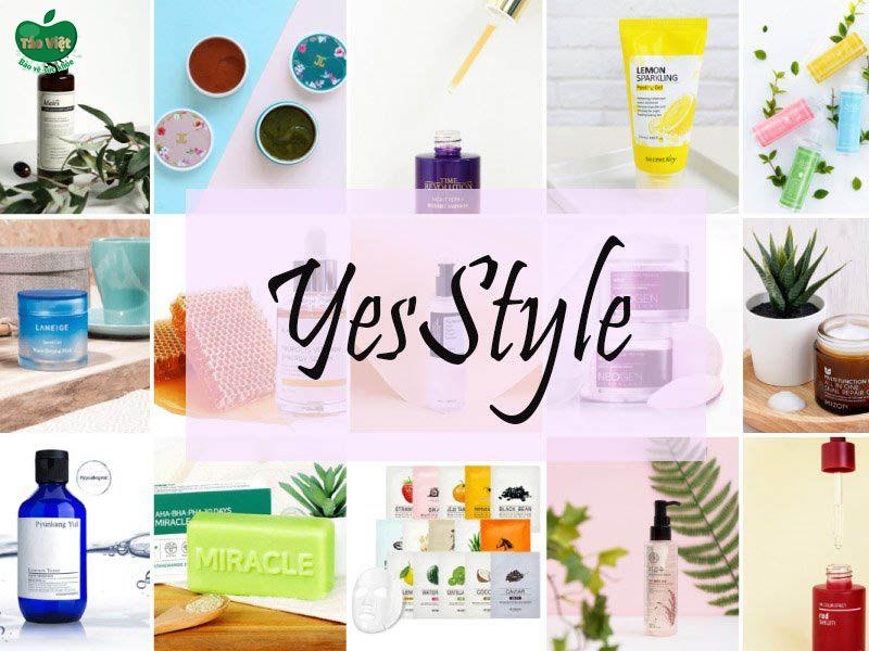 Website bán mỹ phẩm Hàn Quốc YesStyle