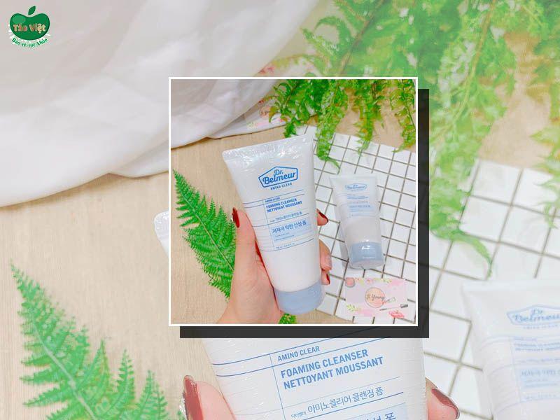 Bao bì sữa rửa mặt Dr. Belmeur Amino Clear Foaming Cleanser