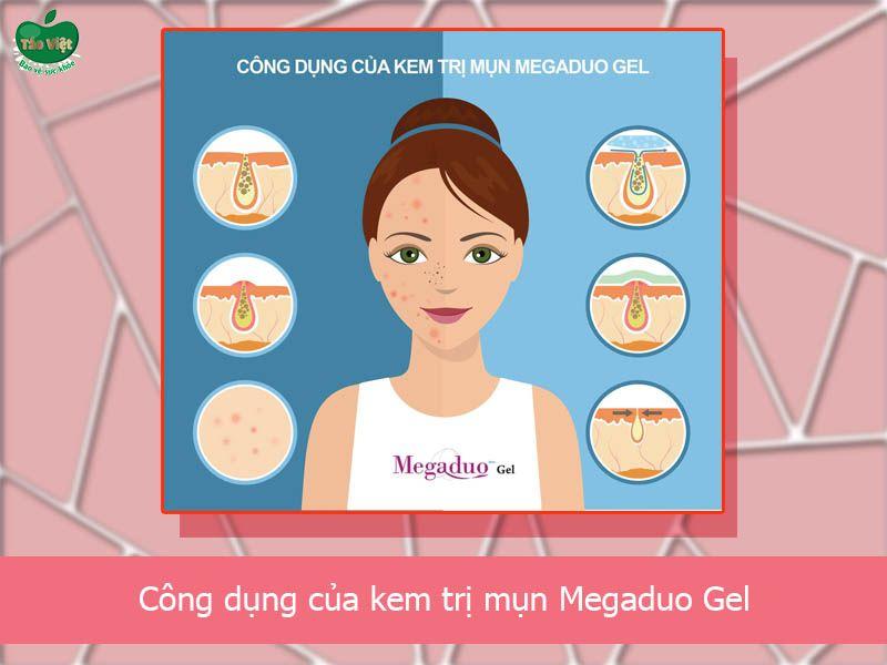 Tác dụng của kem trị mụn Megaduo Gel