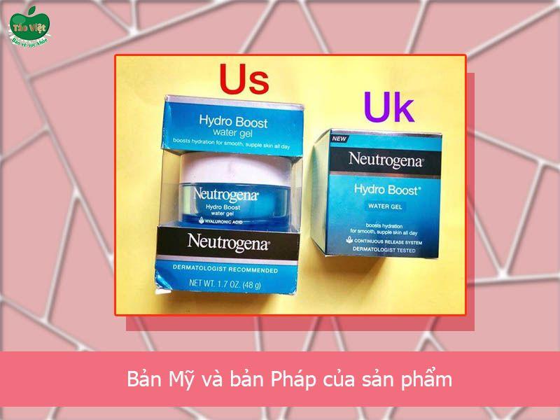 Bản Mỹ và bản Pháp của sản phẩm