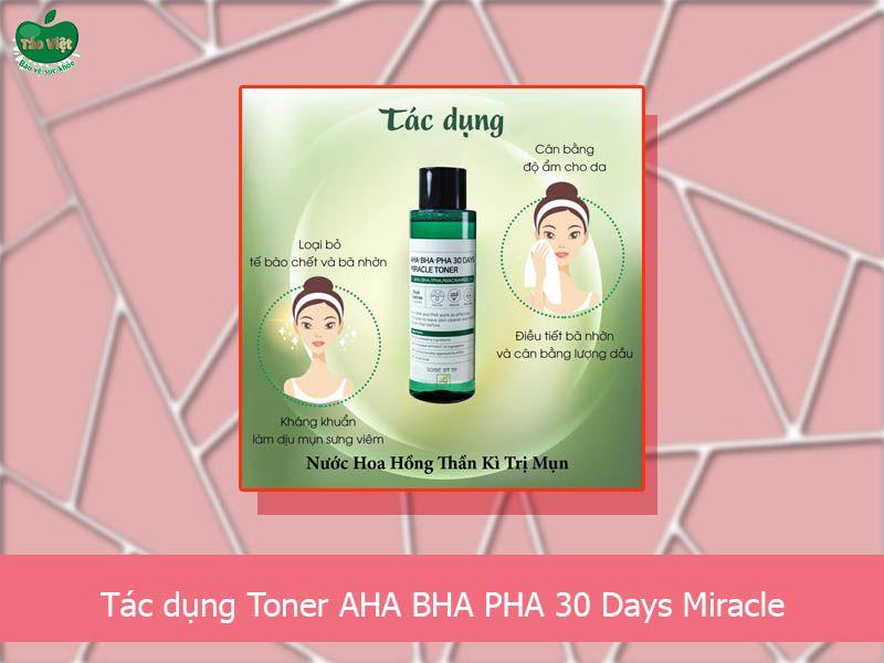 Công dụng của AHA BHA PHA 30 Days Miracle Toner