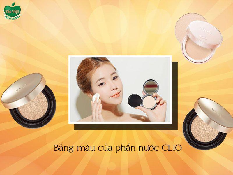 Bảng màu của phấn nước CLIO Stay Perfect Cover Cushion SPF 50+ PA++++