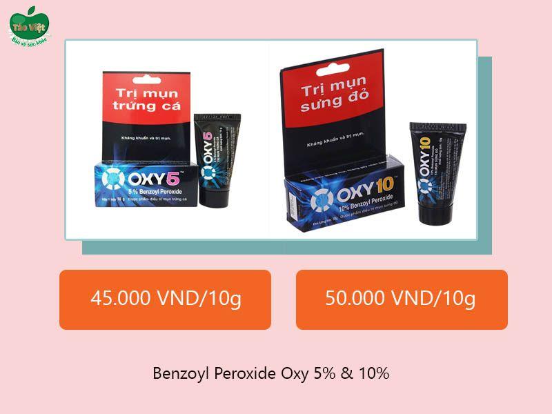 Benzoyl Peroxide Oxy 5% & 10%