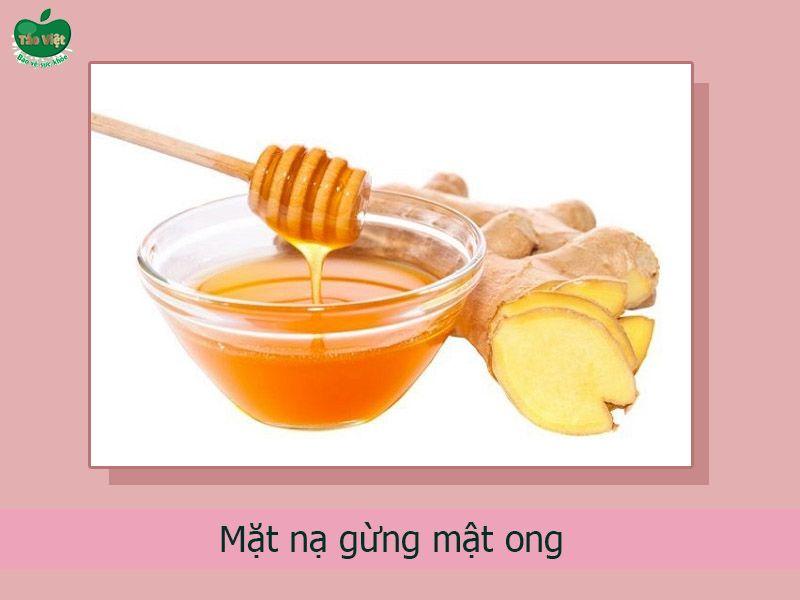 Công thức mặt nạ gừng, mật ong dưỡng da