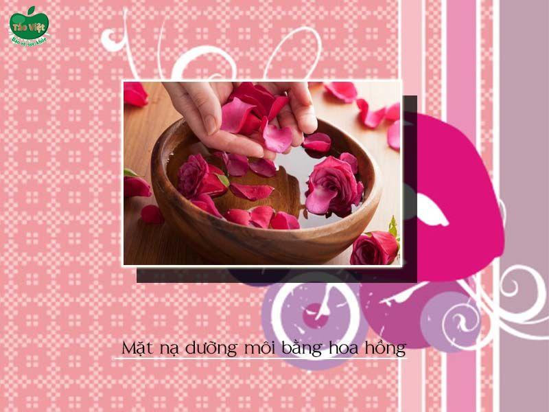 Mặt nạ dưỡng môi bằng hoa hồng