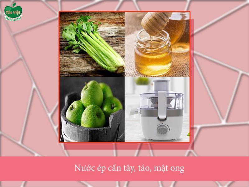 Nước ép cần tây, táo, mật ong