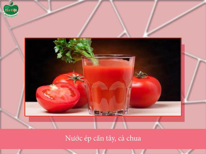 Nước ép cần tây và cà chua