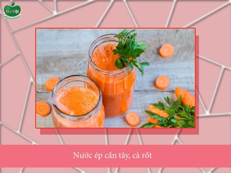 Công thức nước ép cần tây, cà rốt