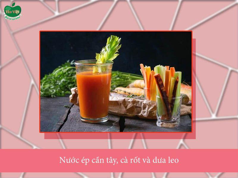 Cách làm nước ép cần tây với cà rốt và dưa leo