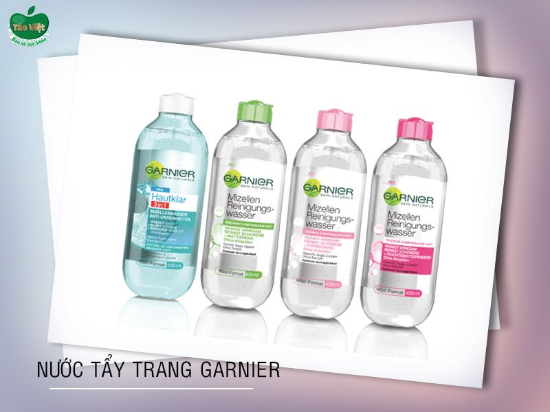 Các dòng nước tẩy trang Garnier