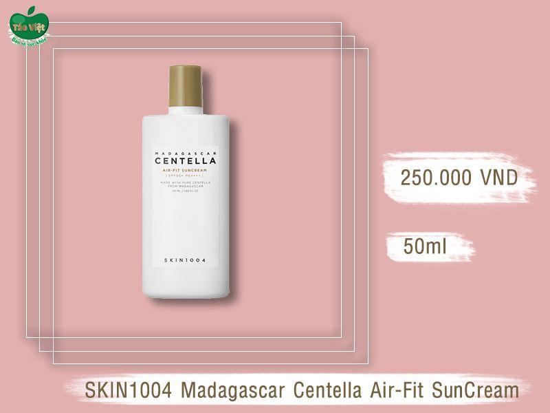 Thiết kế bao bì của SKIN1004 Madagascar Centella Air-Fit SunCream SPF50+ PA++++