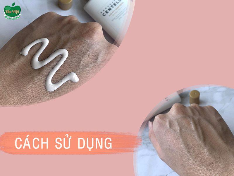 Cách sử dụng kem chống nắng SKIN1004 Madagascar Centella Air-Fit SunCream
