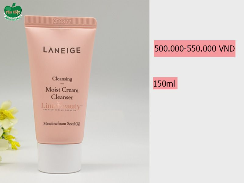Giá bán của sữa rửa mặt Laneige Moist Cream Cleanser