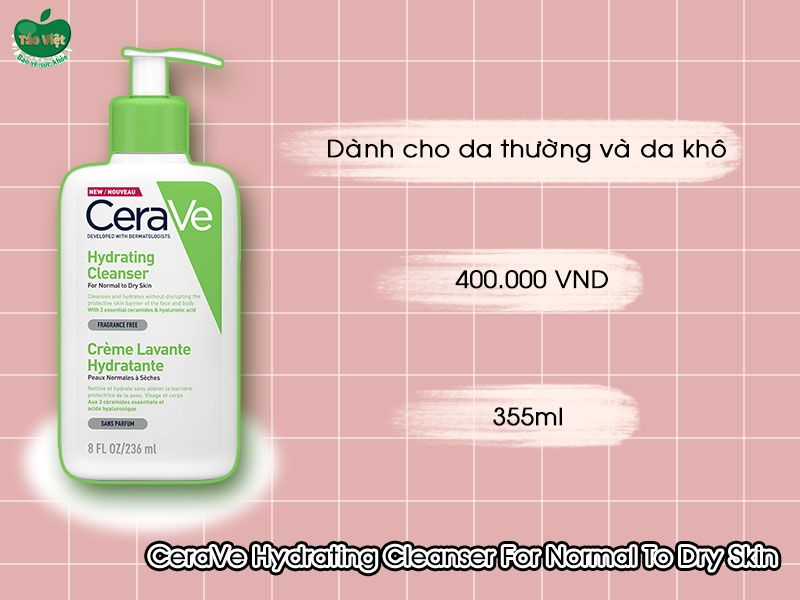 CeraVe Hydrating Cleanser For Normal To Dry Skin