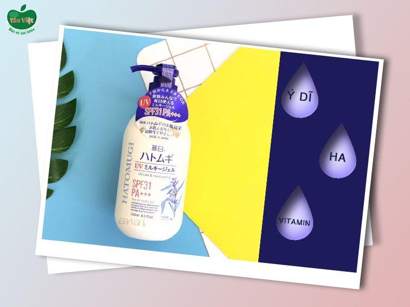 Thành phần chính của sữa dưỡng thể Hatomugi