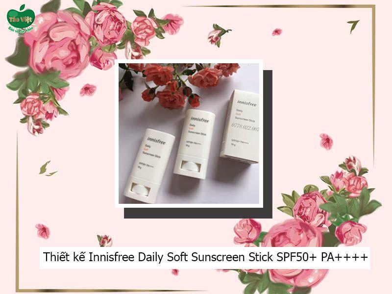 Thiết kế tiện dụng của kem chống nắng Innisfree Daily Soft Sunscreen Stick SPF50+ PA++++