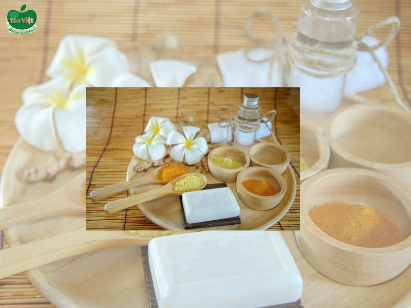 Công thức mặt nạ bằng tinh bột nghệ vàng và dầu dừa